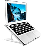 Soundance Aluminum Laptop Stand Adjustable, Compatible with Apple Mac MacBook Pro Air 10 to 14 Inch Notebook, Ventilated Port