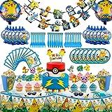 Set of 146Pcs Party Pokemons Theme Party Supplies Set, Pikachu Birthday Decoration, Pokemons Party Decoration, Children Carni