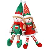 "JOYIN 2 Packs 12"" Elf Soft Plush Christmas Stuffed Toys for Holiday Plush Characters - Fun Decorations and Toys for Kids, Chr"