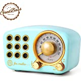 Retro Bluetooth Speaker, Vintage Radio-Greadio FM Radio with Old Fashioned Classic Style, Strong Bass Enhancement, Loud Volum