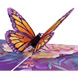Lovepop Monarch Butterfly Pop Up Card - 3D Card, Birthday Pop Up Card, Spring Card, Nature Card, Mother's Day Pop Up Card, Ca