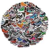 Yubbaex AJ Sneaker Stickers 100 Pcs Jordan Laptop Stickers Pack Cool Vinyl Waterproof Sticker for Pad MacBook Car Snowboard B