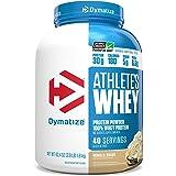 Dymatize Athlete's Whey Protein Powder 30g of Protein, 6.6g BCAAs, Gluten Free, 4 Pound, Servings Vanilla, 40 Servings