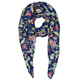 Scarfs for Women Floral Bird Print Extremely Soft