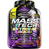 MuscleTech Mass Tech Extreme Mass Gainer Whey Protein Powder, Build Muscle Size & Strength with High-Density Clean Calories,