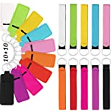 20 Pieces Chapstick Holder Keychain Lipstick Holder Lip Balm Holster Clip-on Sleeve Chapstick Pouch Keychain and Wristlet Lan