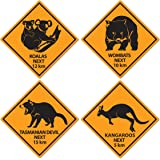 Outback Rock Weekend Critter Crossing Sign Cutouts 4pk