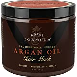 Argan Oil Hair Mask, Organic Argan & Almond Oils - Deep Conditioner, Hydrating Hair Treatment Therapy, Repair Dry Damaged, Co