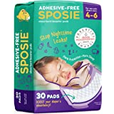 Sposie Booster Pads Diaper Doublers, 30 Pads - for Overnight Diaper Leaks, No Adhesive for Easy repositioning, Fits Diaper Si