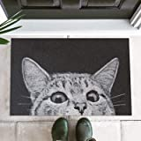 Cat Front Doormat Dirt Trapper, Anti-Slip Bath Rug Entrance Door Mat Rug, Outside Patio/Inside Entry Way, Anti-Fatigue Kitche