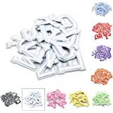 """Iron on Letters for Clothing,Set of 26 Iron on Patches for Clothing,1.6"""" x 2"""" (White)"""