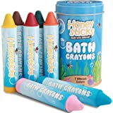 Honeysticks Beeswax Bath Tub Crayons for Toddlers & Kids, Non-Toxic, Washable & Easy Clean Up, Water Soluble Bath-Time Fun, F
