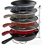 Simple Houseware Kitchen Cabinet Pantry Pan and Pot Lid Organizer Rack Holder, Chrome