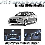 Xtremevision Interior LED for Mitsubishi Evo Lancer 2007-2015 (8 Pieces) Cool White Interior LED Kit + Installation Tool