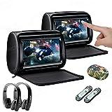 XTRONS 2 x 9 Inch Pair Car Headrest DVD Player HD Digital Adjustable Touch Screen 1080P Video Auto Games HDMI 2pcs New Versio