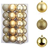 Christmas Decorations,TERSELY 24 Pack 3CM Christmas Balls Ornaments for Xmas Tree - Shatterproof Christmas Tree Decorations L