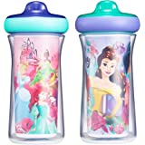 The First Years The First Years Princess Insulated 9oz Sippy Cups 2pk (AR) 1 Count, Pink/Blue (Y10977)