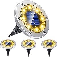 pendoo ガーデンライト ソーラー 屋外 ソーラーライト 埋め込み式 4個セット IP67防水 太陽光パネル充電 防…