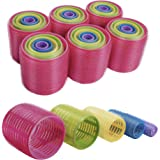 xnicx 30 Count Self Grip Hair Roller Set Large Small Medium Hair Rollers Hairdressing Curlers Tools for Men, Kids, Women Eco-