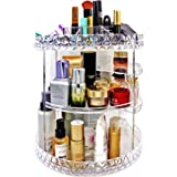 Makeup Organizer, 360-Degree Rotating Makeup Organizer Countertop Adjustable Makeup Storage with 4 Layer Large Capacity for C