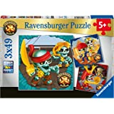 Ravensburger Treasure X 3 x 49 Piece Jigsaw Puzzle for Kids - Every Piece is Unique, Pieces Fit Together Perfectly