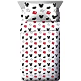 Jay Franco Disney Mickey Mouse Cute Faces Full Sheet Set - Super Soft and Cozy Kid's Bedding - Fade Resistant Polyester Micro