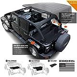 GPCA Jeep Wrangler JK 4DR Freedom Pack LITE - Cargo Cover LITE and Cargo Organizer Tailgate Cover for Sport/Sahara/Freedom/Ru