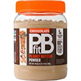 PBfit All-Natural Chocolate Peanut Butter Powder, Powdered Peanut Spread from Real Roasted Pressed Peanuts and Cocoa, 5g of P