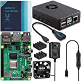 Vilros Raspberry Pi 4 Basic Starter Kit with Fan Cooled Heavy Duty Aluminum Alloy Case (8GB, Black)