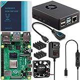 Vilros Raspberry Pi 4 Basic Starter Kit with Fan Cooled Heavy Duty Aluminum Alloy Case (8GB, Black)