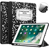 Fintie Case with Built-in Apple Pencil Holder for iPad 9.7 2018 (6th Gen) - [SlimShell] Lightweight Soft TPU Back Protective