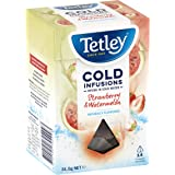 Tetley Cold Infusions Strawberry and Watermelon 14 Tea Bags, 14 Count, Strawberry & Watermelon