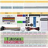 Freenove Basic Starter Kit for Raspberry Pi 4 B 3 B+ 400, 147-Page Detailed Tutorials, Python C Java Code, 146 Items, 17 Proj