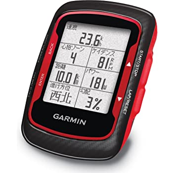 GARMIN(ガーミン) Edge500J 【日本正規品】Red/Black 本体