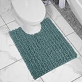 Yimobra Luxury Shaggy Toilet Bath Mat U-Shaped Contour Rugs for Bathroom, 24.4 X 20.4 Inches, Soft and Comfortable, Maximum A
