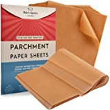 Parchment Paper Baking Sheets by Baker's Signature | Precut Non-Stick & Unbleached - Will Not Curl or Burn - Non-Toxic & Come