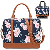 BLUBOON Weekender Bag for Women Overnight Duffel Bags Travel Luggage Tote with Shoulder Strap (0041-Blue Rose)