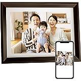 Dragon Touch デジタルフォトフレーム 10.1インチタッチスクリーン 1280*800高解像度 WiFi IPS広視野角 16GB内蔵メモリ 90°~360°回転可能/USBメモリー/SDカード対応/写真動画再生/カレンダー/アラーム 良