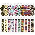 10 pcs Chapstick Holder Keychains with 10 pcs Neoprene Wristlet Keychain Lanyards, Vibrant Colors, Lightweight Lip Balm Keych