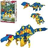 LaQ Dinosaur World Spinosaurus - 7 Models, 175 Pieces | Build awesome dinosaur toys from Jurassic world | Japanese Building &
