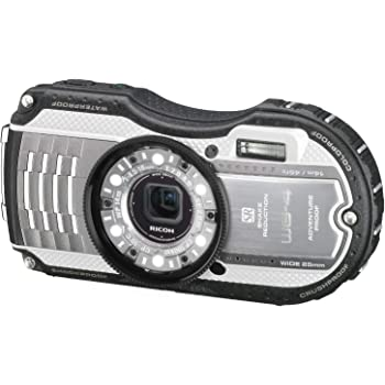 RICOH 防水デジタルカメラ RICOH WG-4 シルバー 防水14m耐ショック2.0m耐寒-10度 RICOH WG-4SL 08573
