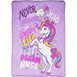 Jay Franco Nickelodeon JoJo Siwa Dream Unicorn Blanket - Measures 62 x 90 inches, Kids Bedding - Fade Resistant Super Soft Fl