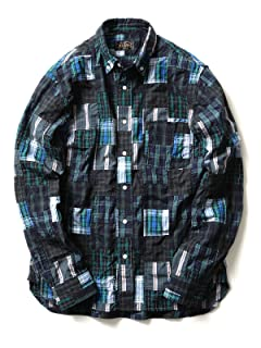 Beams Plus Crazy Patchwork Buttondown Shirt 11-11-2478-139