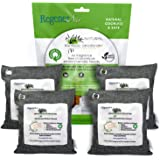 RegenerAir 4 x 500g Air Purifier Filter Bags 100% Activated Bamboo Charcoal Deodorizer Odor Eliminator for Kitchens Bedrooms