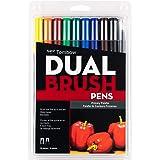 Tombow Dual Brush Pens 10/Pkg-Primary (並行輸入品)