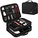 Matein Electronics Travel Organizer, Watreproof Electronic Accessories Case Portable Double Layer Cable Storage Bag for Cord,