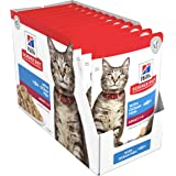 Hill's Science Diet Adult Wet Cat Food, Ocean Fish Cat Food Pouches, 85g, 12 Pack
