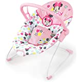 Bright Starts Disney Baby Minnie Mouse Vibrating Bouncer with Toy bar- Spotty Dotty