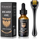 Ebeizi Beard Roller, Derma Roller for Men's Beard Growth, Beard Growth Vitamins Serum, Derma Roller for Men, Stimulate Beard