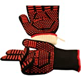Gochi Gochi Barbecue Gloves Extreme Heat Resistant Cooking Oven BBQ Grilling Campfire Frying & Baking Premium Insulated & Sil